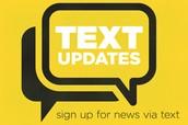 TEXT Message Updates