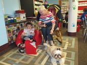 We love reading to Miss Daisy!