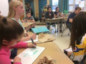 Sixth grade math warm up. These students solve various problems with decimals