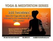 $10 Tuesdays! Yoga & Meditation!