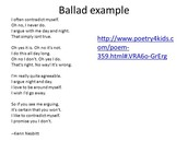 Ballad Examples! (Pictures)