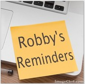 Robby's Reminders