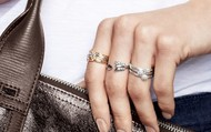 Gilded Arrow Ring Hits The Bullseye In Between The Moraley Stackable Rings