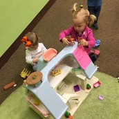Madelyn loaned us her cool dollhouse!