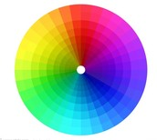 Visible light color wheel