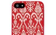 Signature Iphone 5 Case-Red Ikat