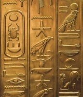 Hieroglyphics were carved into tombs.