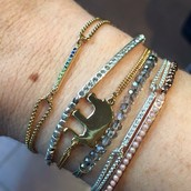 As part of an arm party with our other delicates