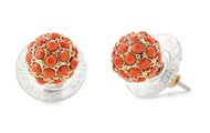 Soiree Studs - Coral
