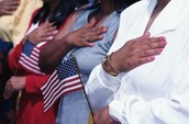 people doing the pledge allegiance