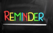 Yeshiva reminders and important information