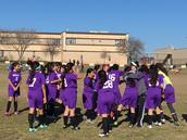 Our soccer team BEAT Dobie!