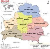 Major cities of Belarus