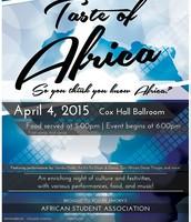 Taste of Africa on April 4, 2015