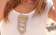 Avalon fringe necklace $45