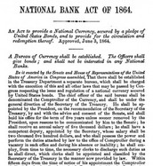 National Banking Act 1863
