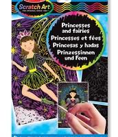 Hojas de diseño scratch art - Princesas y Hadas