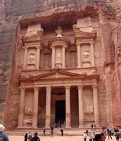 This is one of Jordan's most famous landmarks called Petra.