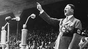 Hitler giving a speech.