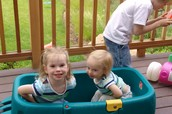Me and My Little Sister in a Wagon