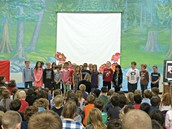 Our primary choir closed the assembly beautifully