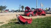 הרכב הפרטי לאחר ההתנגשות