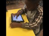 Hayde's class using iPads