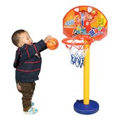 Baby playing basketball