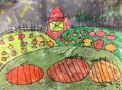 First Grade Landscape at Night