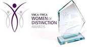 YMCA women of distinction award 1999