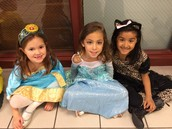Elsa, Marida, and a cute cat!