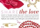 Book a Trunk Show in February and receive a Love Bracelet!