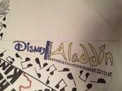 The Broadway musical Aladdin!
