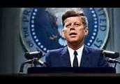Kennedy giving a speech