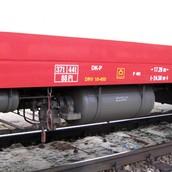 An air brake on a train