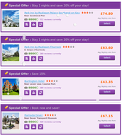 Christmas Deals on Kent hotels booking