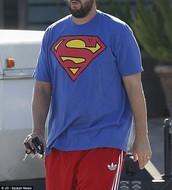 T-shirt and basketball shorts