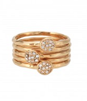 Gold stackable bands (size 6)