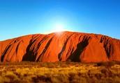 The Uluru in the outback