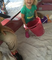 Brooklynn enjoying the sand boat