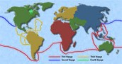 Routes of his Voyages