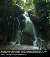 Waterfall in the Amazon of Ecuador