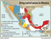DRUG CARTEL AREAS IN MEXICO