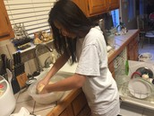 Making the dough from scratch