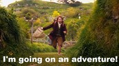 "Bilbo saying he's going on a ""adventure"" indicates the inciting event starting his journey."