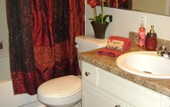 Upgraded counter-top in bathrooms!