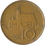 Back of Czech Republic Coin