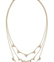 Pave Chevron Necklace - Gold