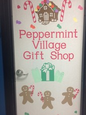 Peppermint Village Help during the Vendor Fair Monday Night