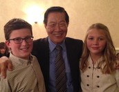 Dr. Henry Lee with Conor & Samantha